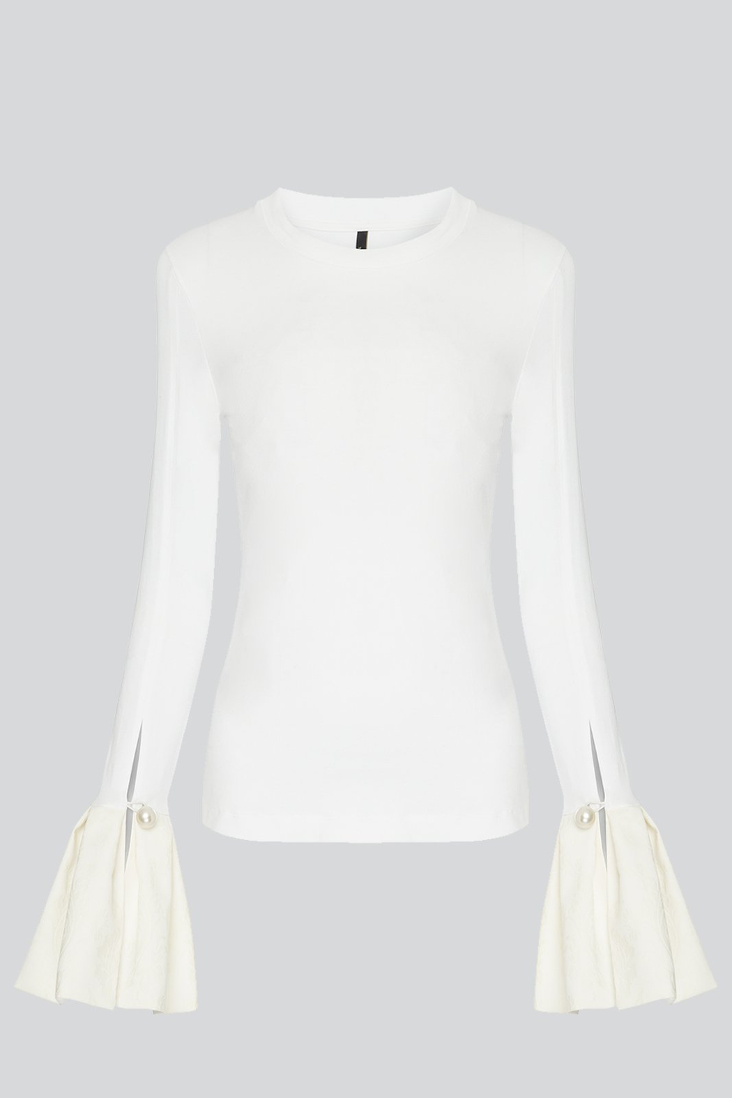 Mother of Pearl Alex Ruffle Top White - Front Full Image