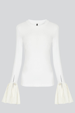 Mother of Pearl Alex Ruffle Top White - Alternate List Image