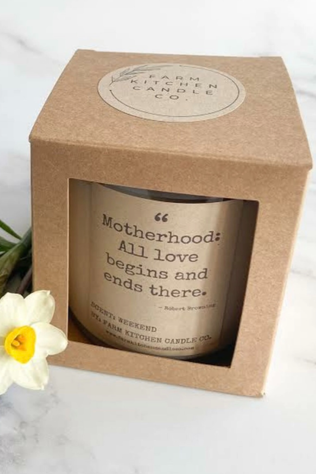 Farm Kitchen Candle Co. Motherhood Candle - Front Full Image