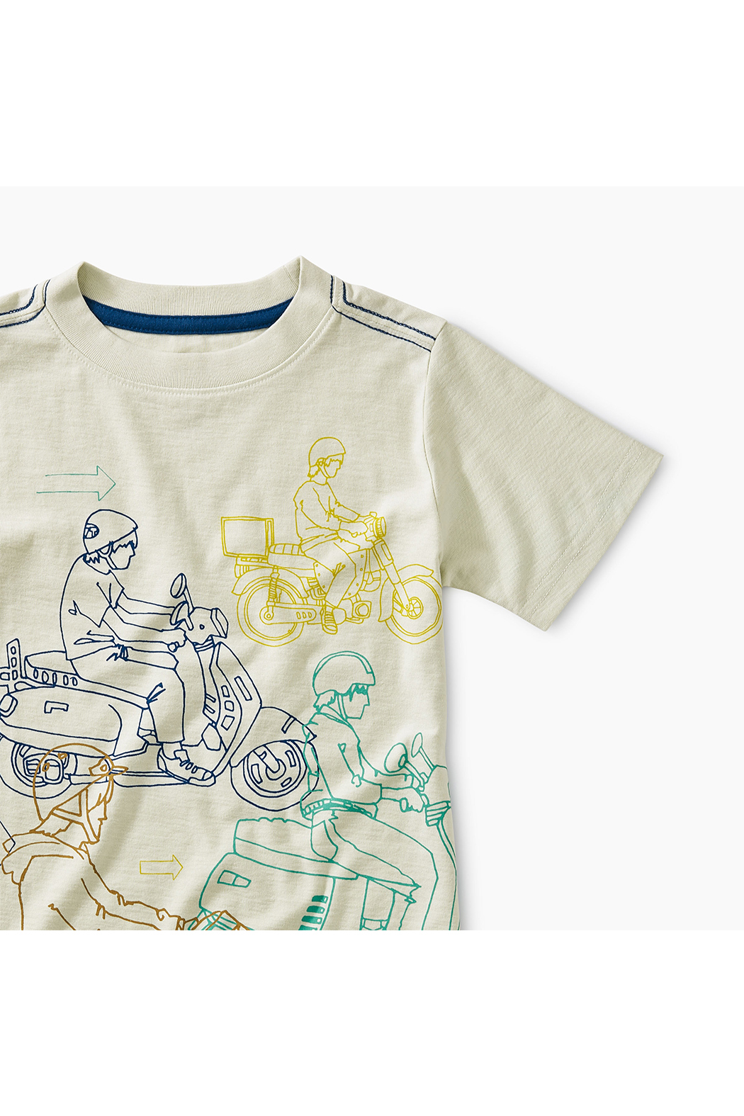 Tea Collection Moto Graphic Tee - Front Full Image