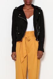 love token Moto Jacket with Lace Up Detailing - Front full body