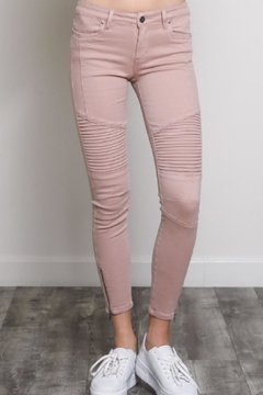 Shoptiques Product: Moto Skinnies Pink