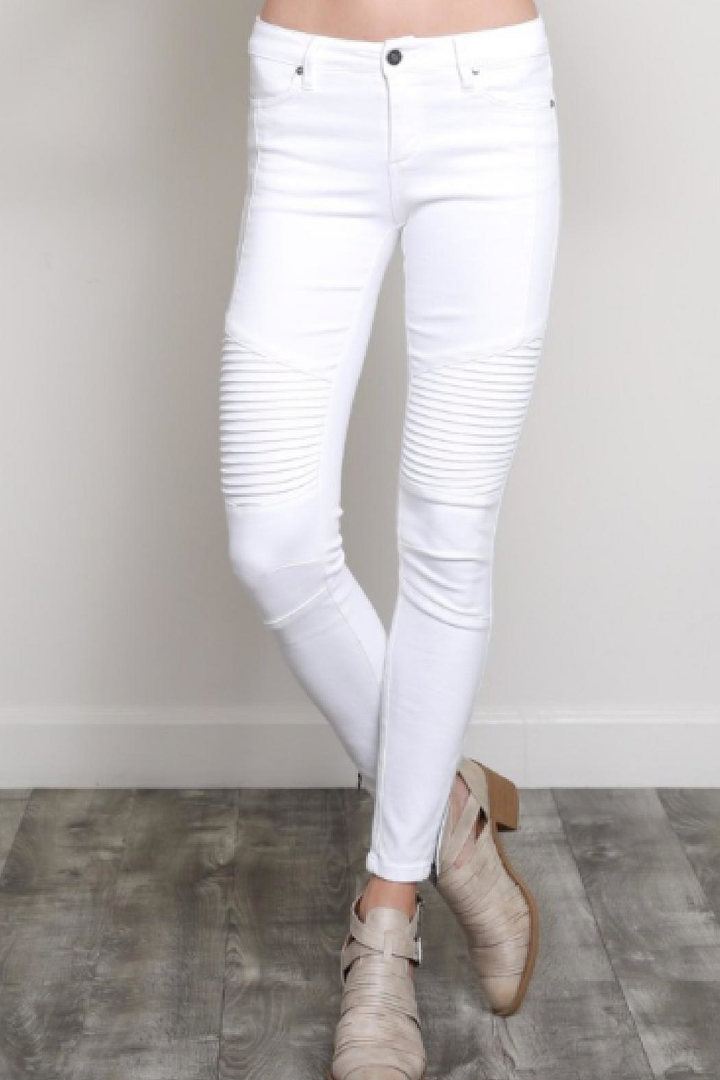 Wishlist Moto Skinnies White - Front Cropped Image