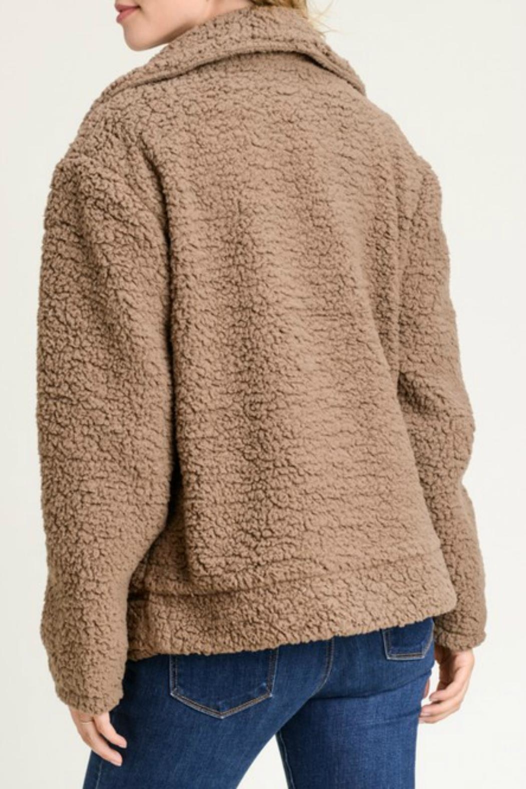 Pretty Little Things Moto Teddy Coat - Front Full Image