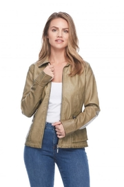 French Dressing Jeans Moto Zip Jacket - Front cropped
