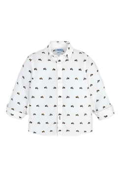 Shoptiques Product: Motorcycle Theme Button-Down-Shirt