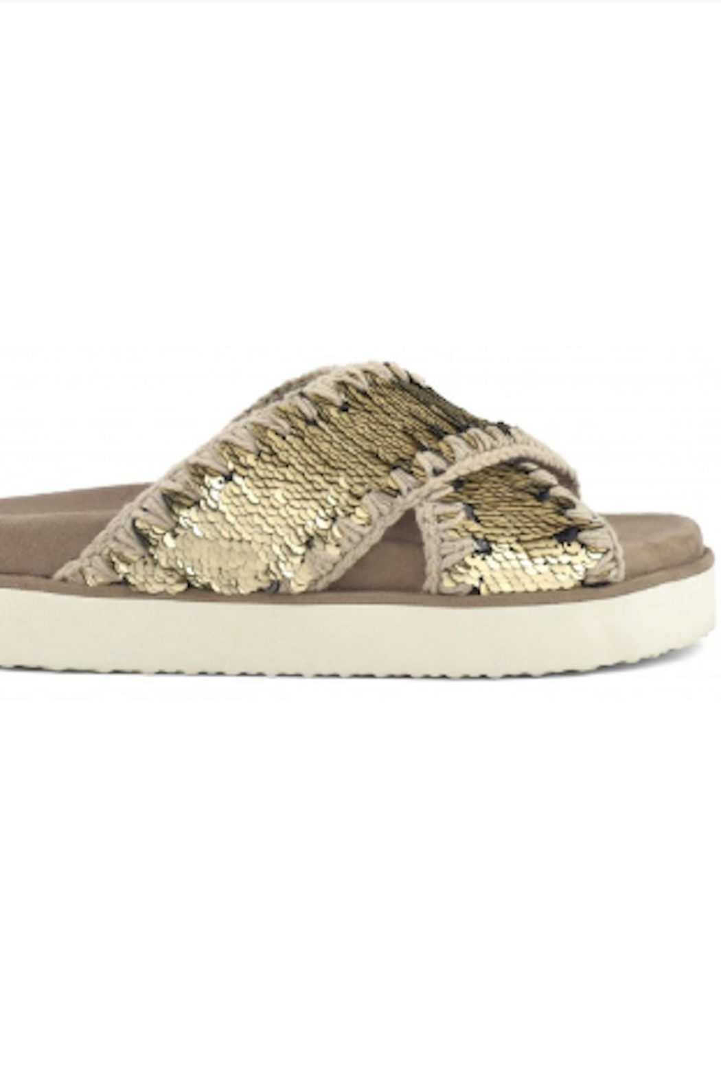 MOU  Criss Cross Bio Sandal Plain Gold - Main Image