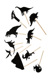 Moulin Roty Dinosaurs Shadow Puppets - Front cropped