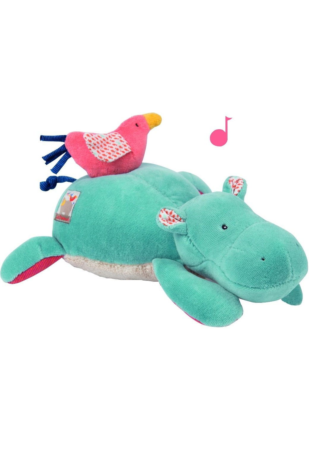 Moulin Roty Musical Plush Hippo - Main Image