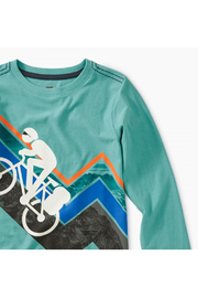 Tea Collection Mountain Biker Graphic Tee - Front full body