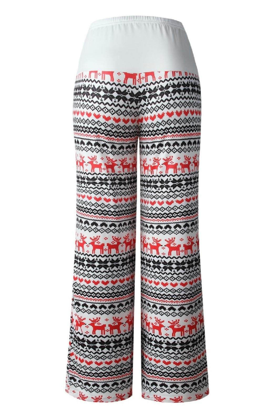 Mountain Valley Christmas Print Pants - Front Full Image