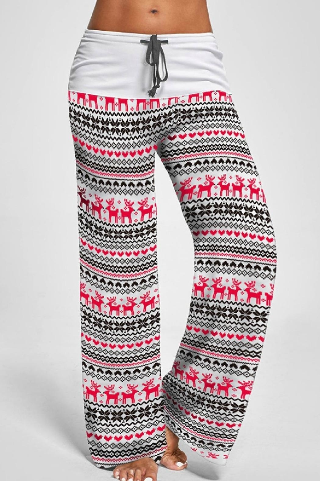 Mountain Valley Christmas Print Pants - Front Cropped Image
