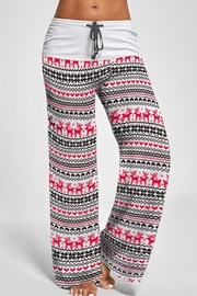 Mountain Valley Christmas Print Pants - Front cropped