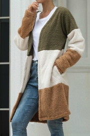 Mountain Valley Color Block Cardigan - Front cropped