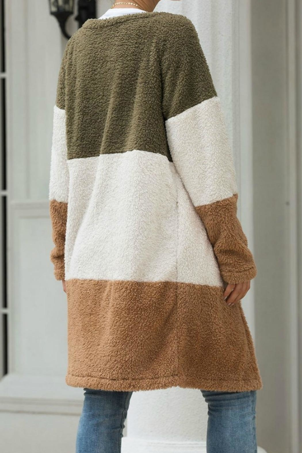 Mountain Valley Color Block Cardigan - Front Full Image