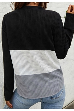 Mountain Valley Color Block Tie Top - Alternate List Image