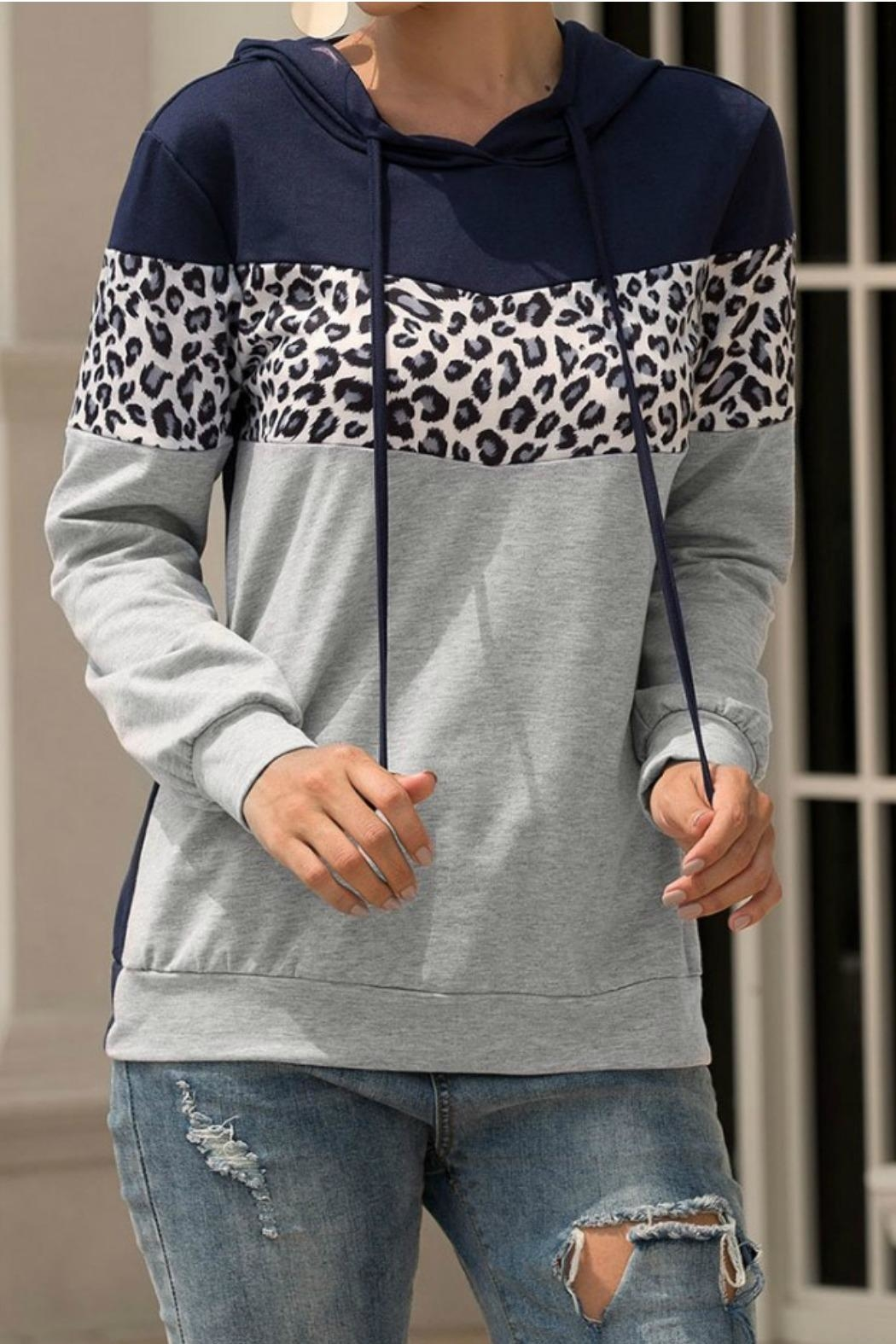 Mountain Valley Leopard Print Hoodie - Main Image