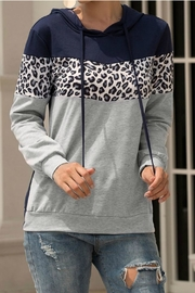 Mountain Valley Leopard Print Hoodie - Front cropped