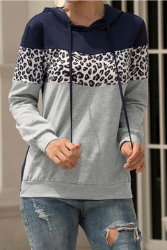 Mountain Valley Leopard Print Hoodie - Product List Image