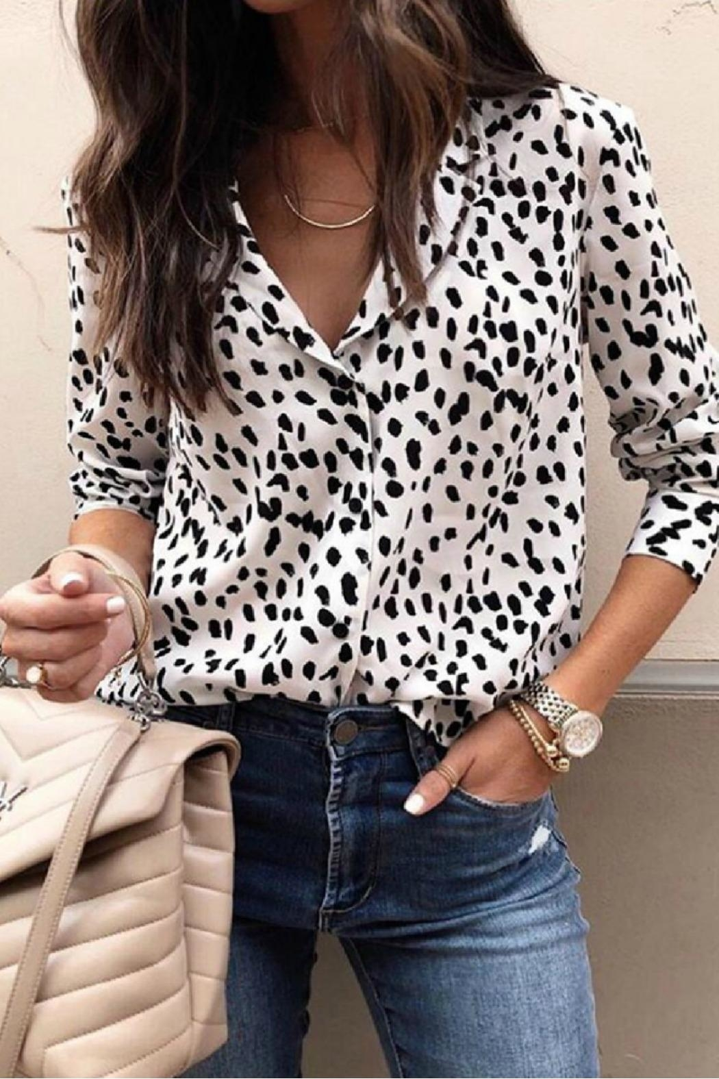 Mountain Valley Leopard Print Top - Main Image