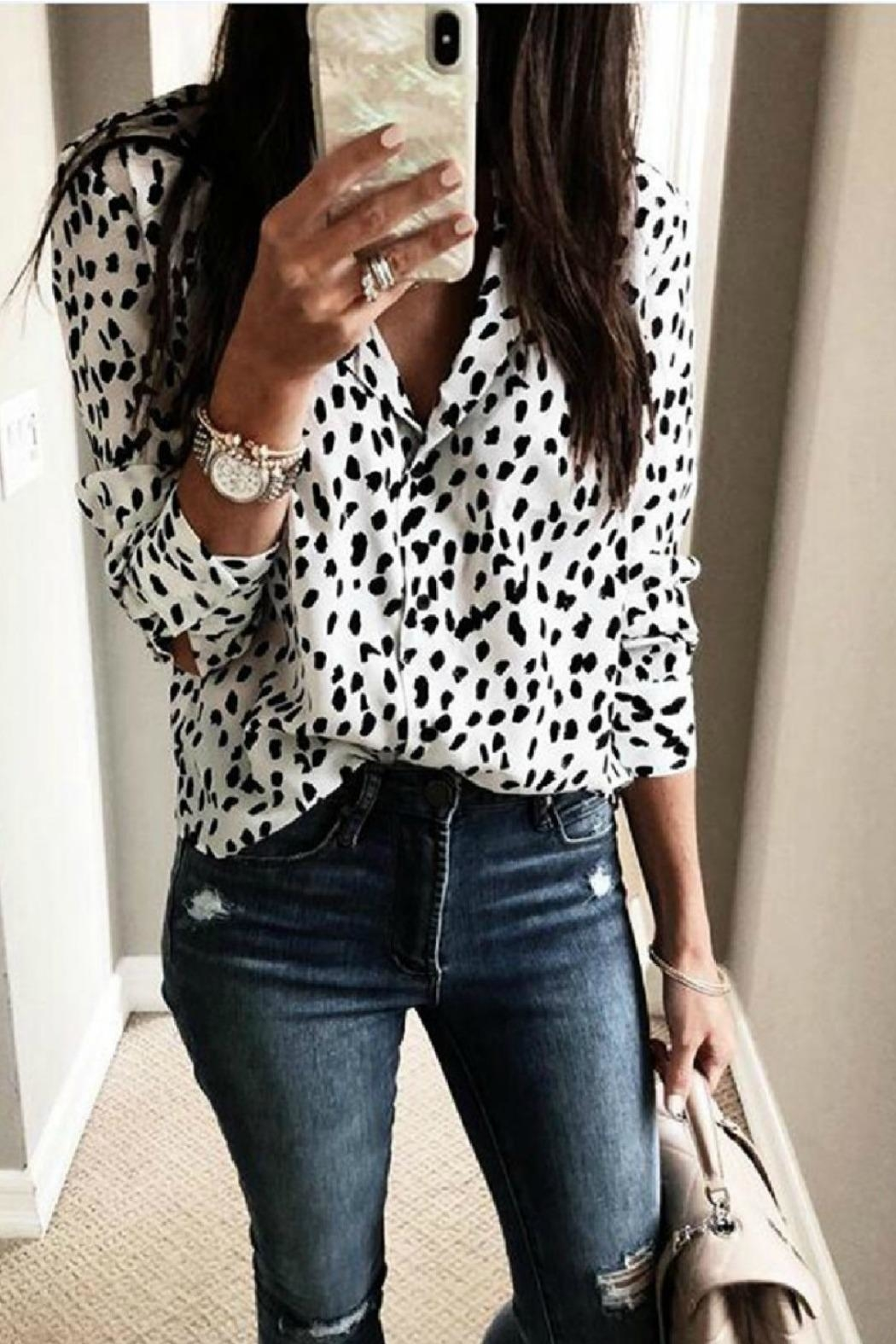 Mountain Valley Leopard Print Top - Front Full Image