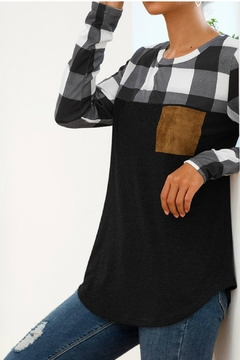 Mountain Valley Plaid Patchwork Top - Alternate List Image