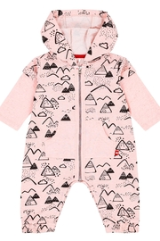Deux Par Deux Mountains Pink Jumpsuit - Front cropped