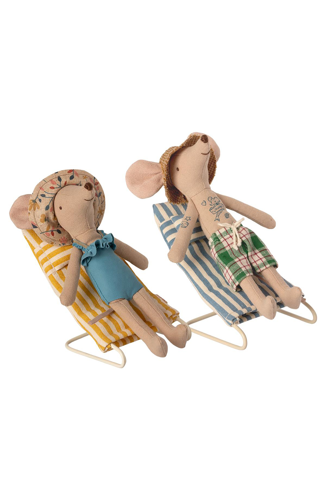 Maileg Mouse Beach Chair Set - Front Full Image