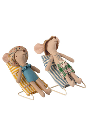 Maileg Mouse Beach Chair Set - Front full body