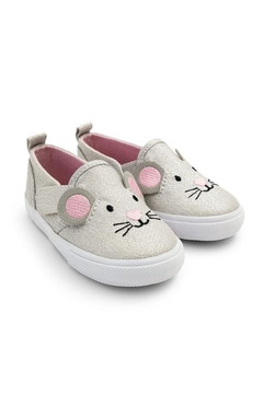 JoJo Maman Bebe Mouse Canvas Shoe - Product List Image