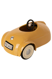 Maileg Mouse Car With Garage - Yellow - Front full body