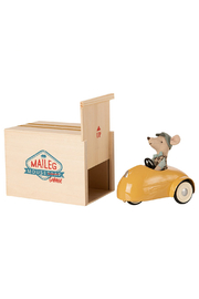 Maileg Mouse Car With Garage - Yellow - Product Mini Image