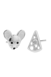 Tomas Mouse & Cheese Stud Earrings - Product Mini Image