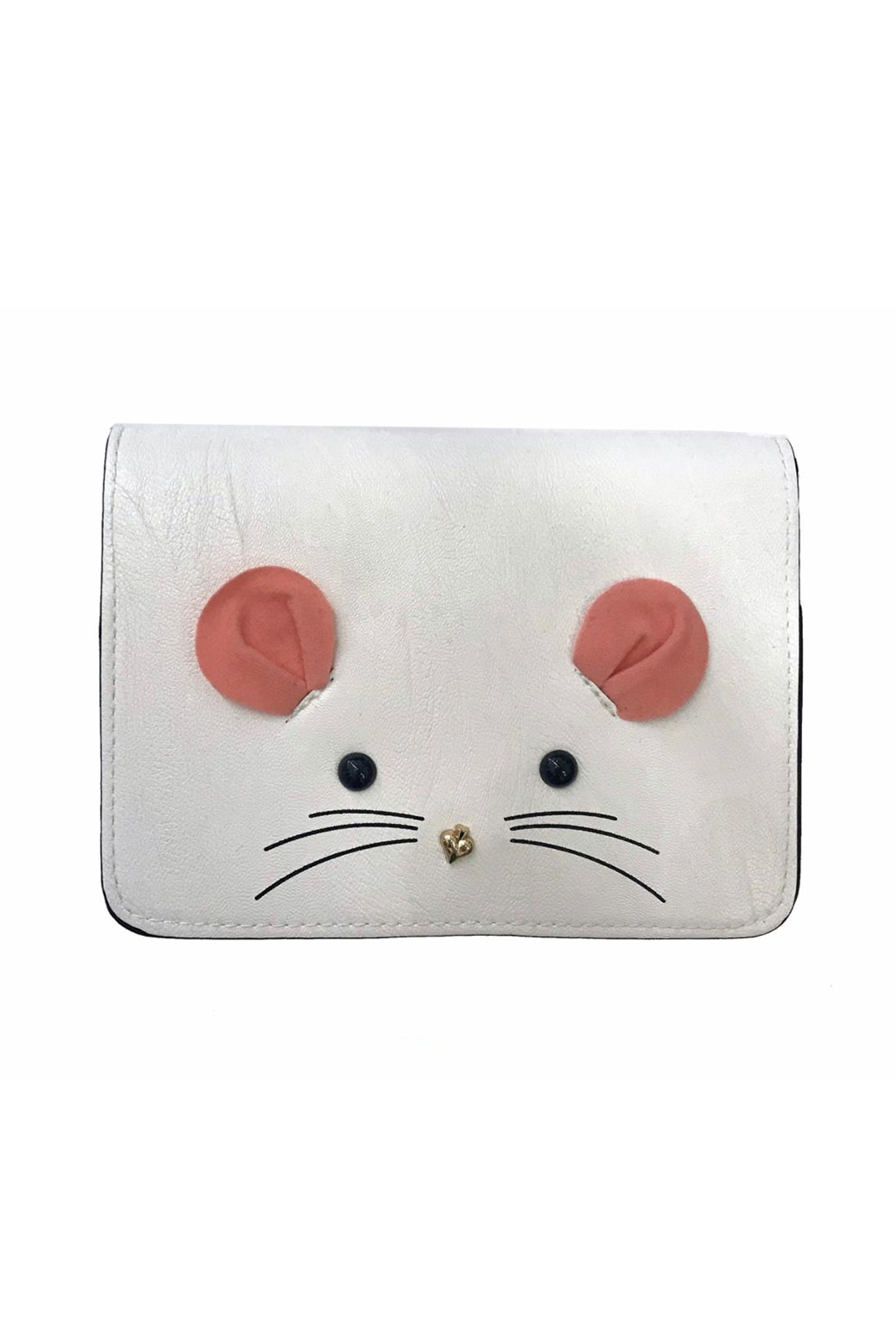 Doe a Dear Mouse Face Cross Body Purse - Front Cropped Image