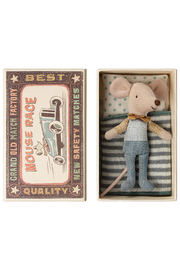 Maileg Mouse Little Brother in Box - Front cropped