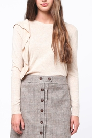 Movint Asymmetrical Ruffle Sweater - Front full body
