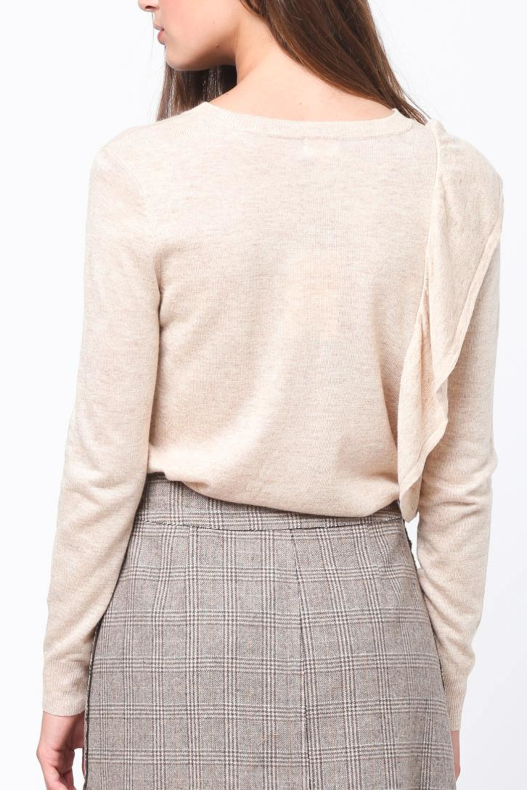 Movint Asymmetrical Ruffle Sweater - Side Cropped Image