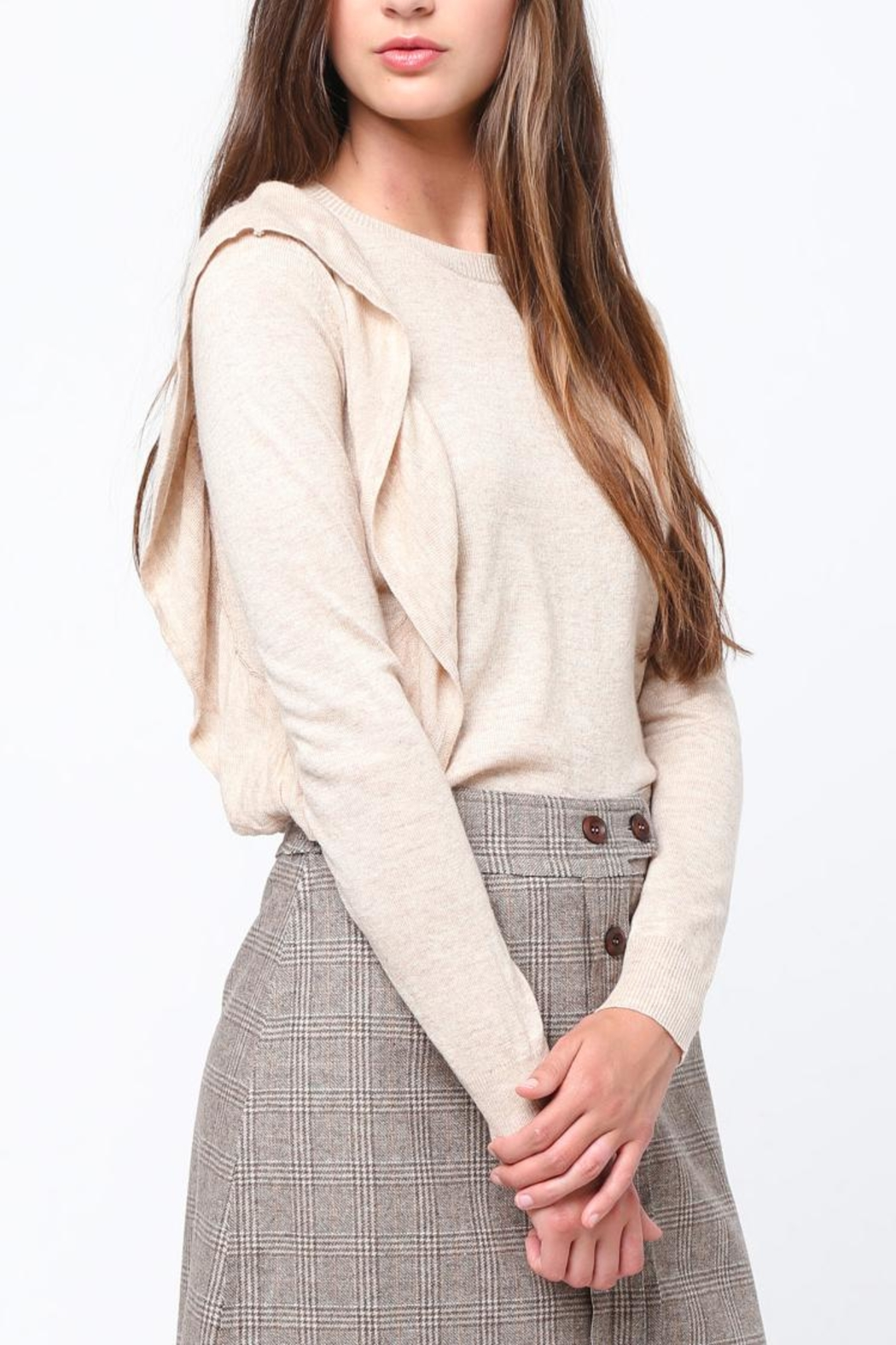 Movint Asymmetrical Ruffle Sweater - Front Cropped Image