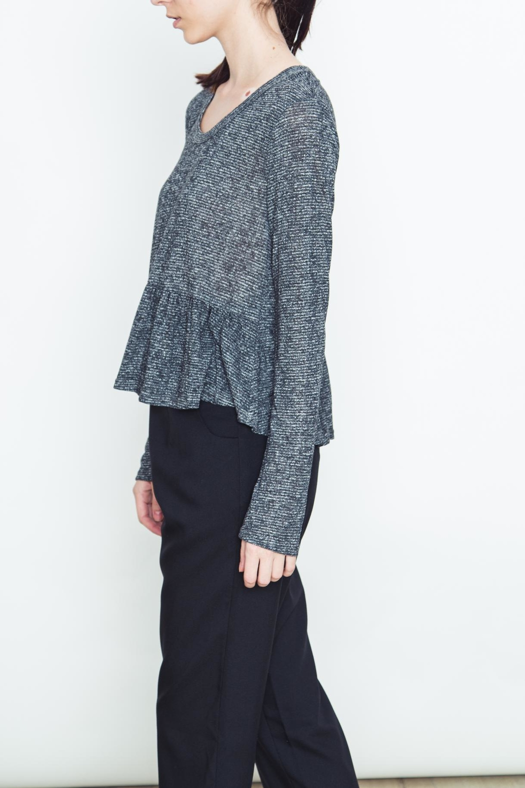 Movint Audrey Peplum Pullover - Front Full Image