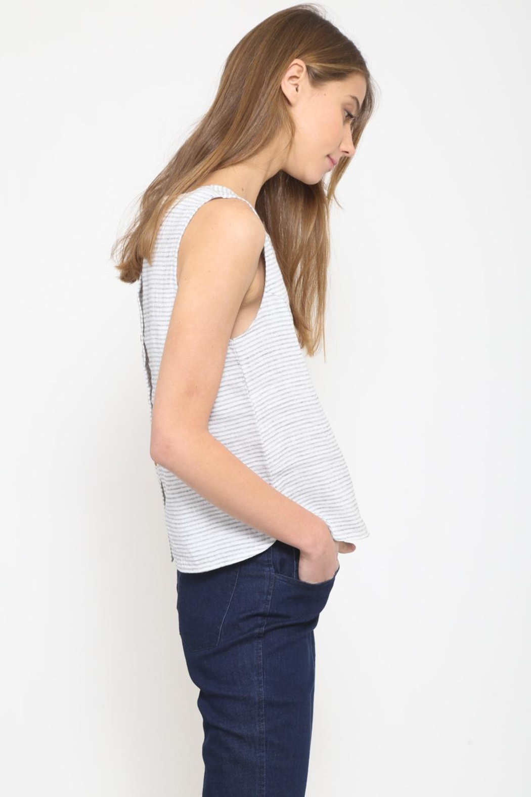 Movint Back Button-Down Top - Back Cropped Image