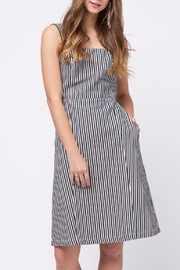 Movint Back Knot Striped Dress - Product Mini Image