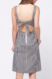 Movint Back Knot Striped Dress - Front full body
