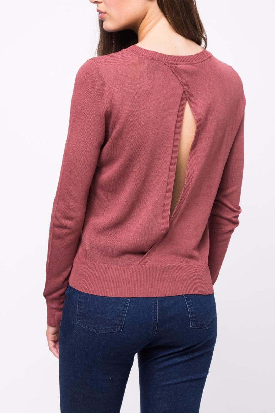 Movint Back Twist Detail Sweater - Side Cropped Image