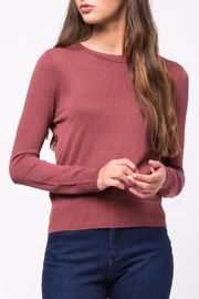 Movint Back Twist Detail Sweater - Front cropped