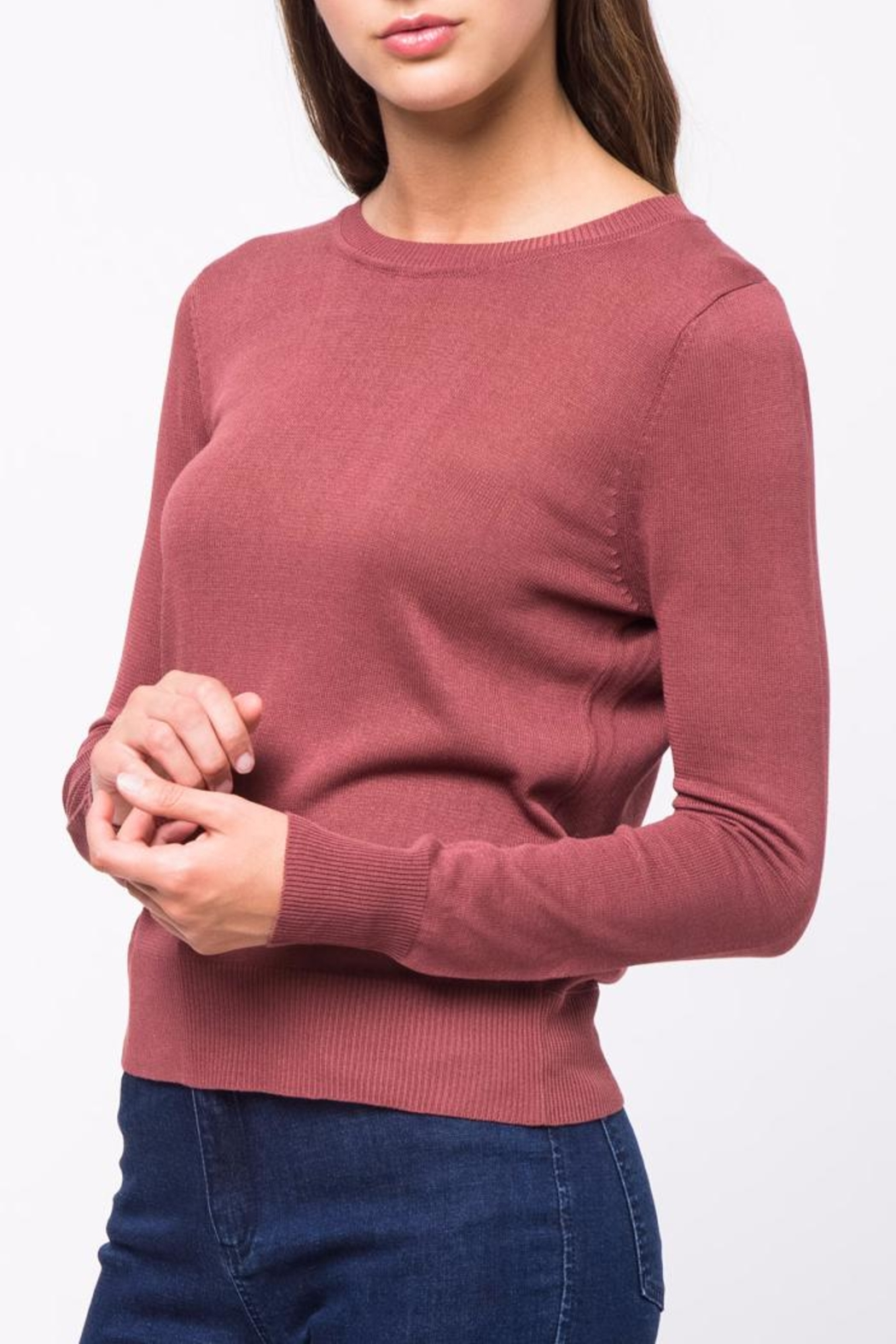 Movint Back Twist Detail Sweater - Back Cropped Image