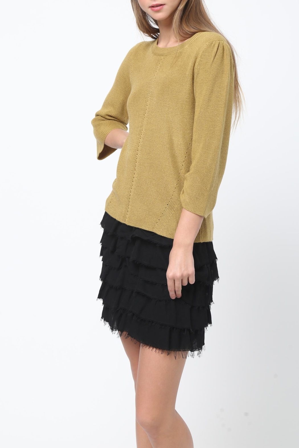 Movint Bell Sleeve Sweater - Front Full Image