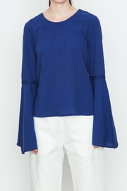 Movint Blue Bell Sleeve Top - Product Mini Image