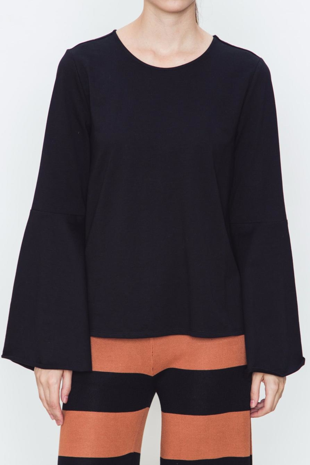 Movint Bell Sleeve Top - Front Cropped Image