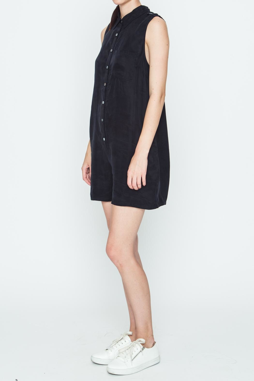 Movint Black Boxy Romper - Front Full Image