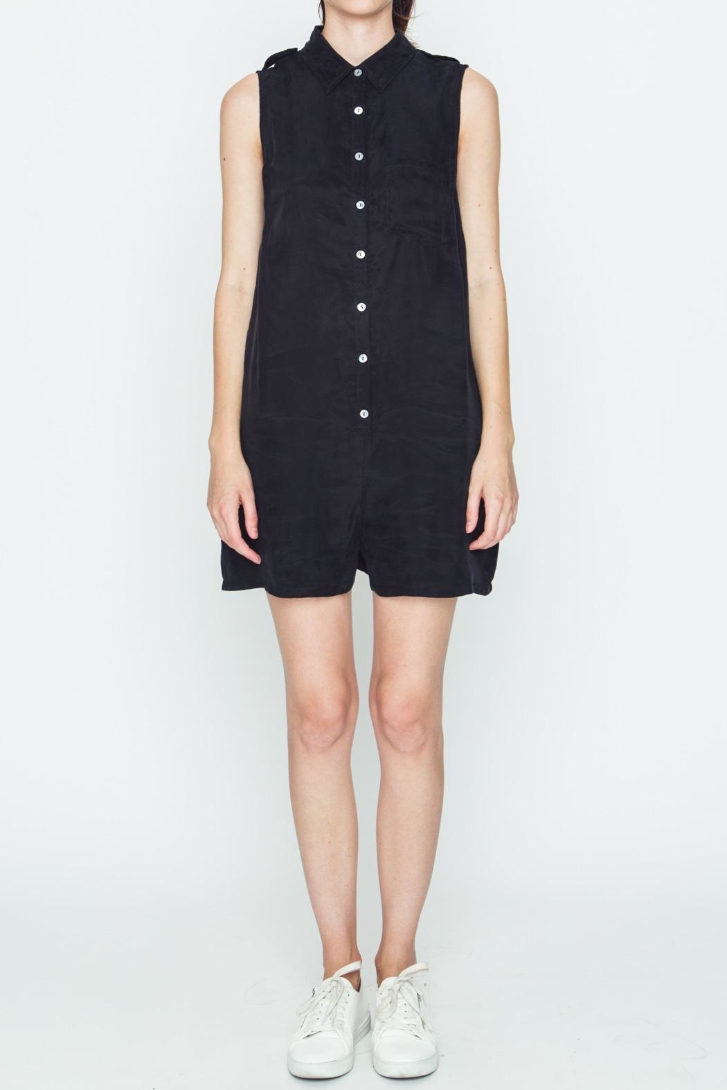 Movint Black Boxy Romper - Front Cropped Image